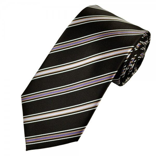 Gold and white striped tie