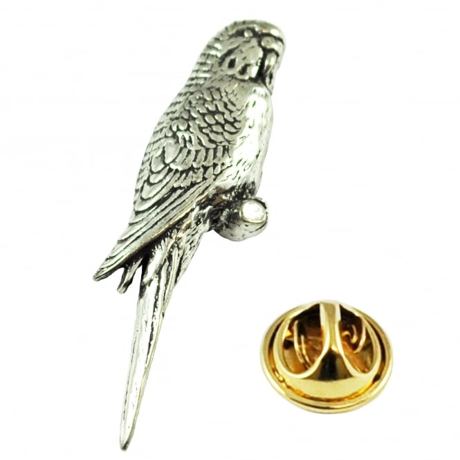 Budgerigar Budgie Bird English Pewter Lapel Pin Badge