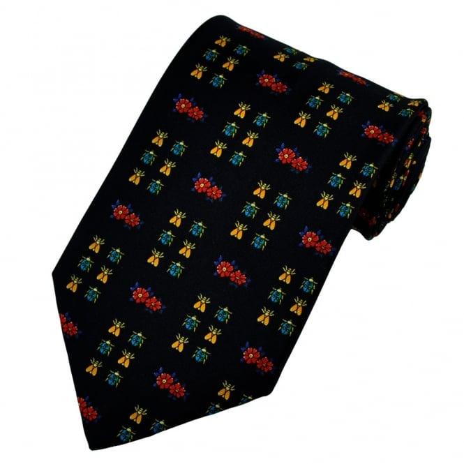Bugs Navy Blue Silk Novelty Tie