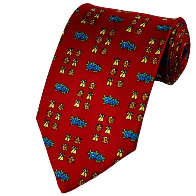 Bugs Red Silk Novelty Tie
