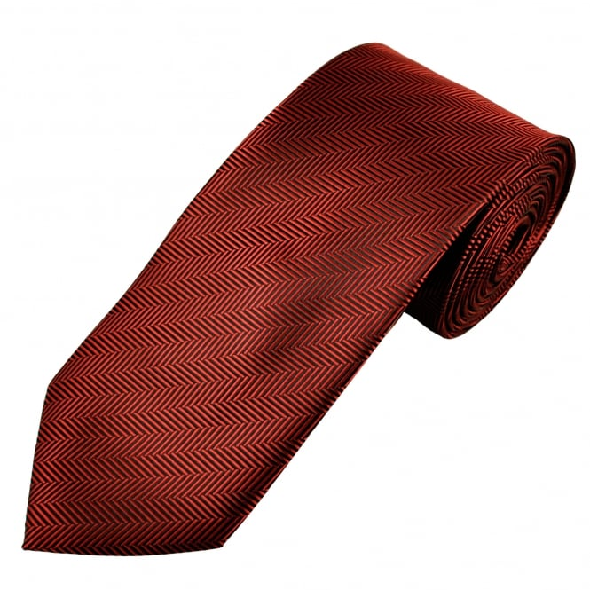 Burgundy & Black Chevron Striped Men's Tie