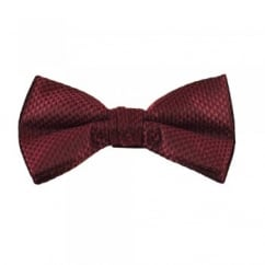 Burgundy & Black Micro Checked Bow Tie