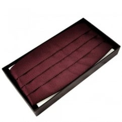 Burgundy & Black Micro Checked Cummerbund