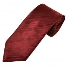 Burgundy & Maroon Striped Men's Tie