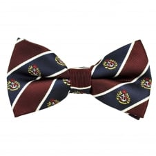 Burgundy, Navy, Blue &White Striped Anchor Patterned Novelty Bow Tie