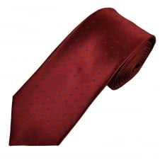 Burgundy & Royal Blue Polka Dot Men's Tie
