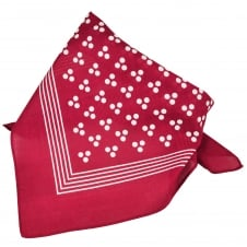 Burgundy With White 3-Dot & Stripes Bandana Neckerchief