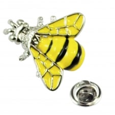 Busy Bee Lapel Pin Badge