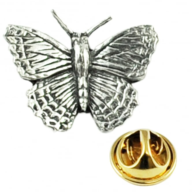 Butterfly Pewter Lapel Pin Badge