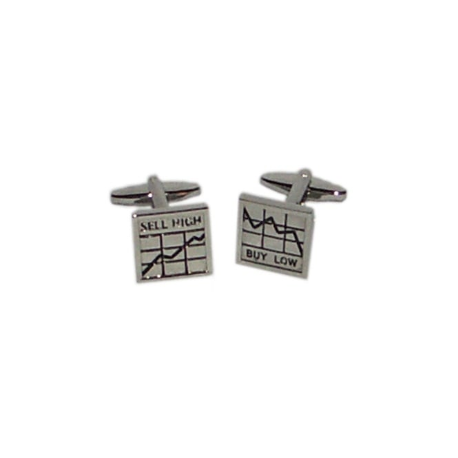 Buy Low Sell High Novelty Cufflinks