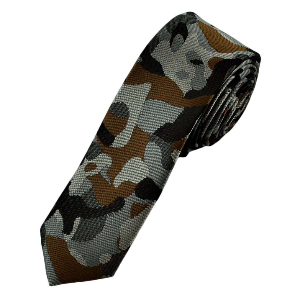 grey brown camouflage tie from ties planet uk
