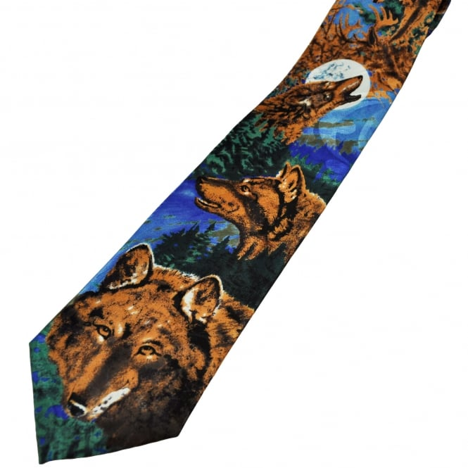 Canadian Brown Wolves Men's Novelty Tie