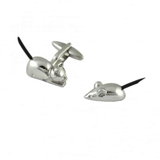 Cat & Mouse 3D Novelty Cufflinks