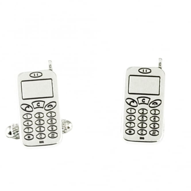 cell phone novelty cufflinks