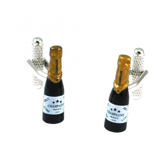 Champagne Bottle Novelty Cufflinks