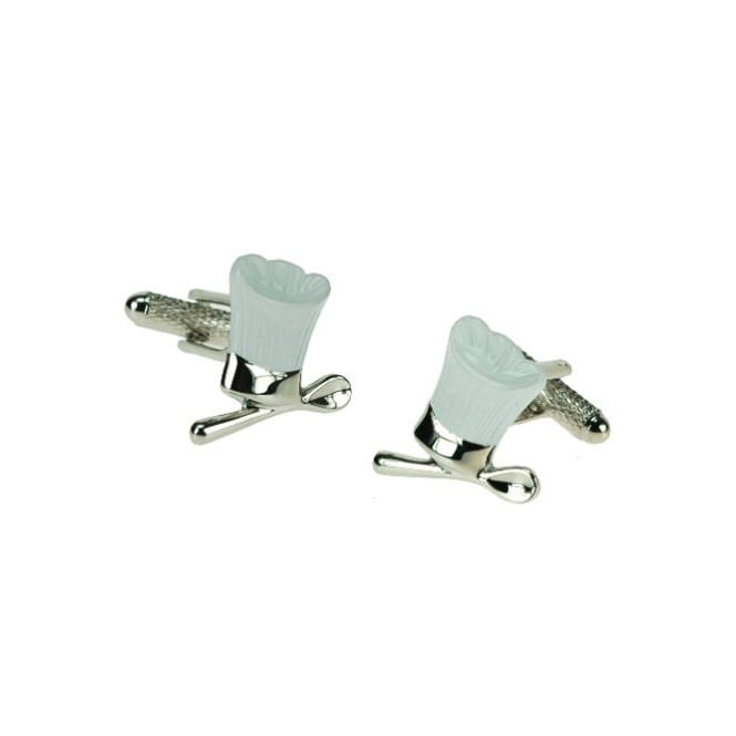 Chef Hat Novelty Cufflinks - White