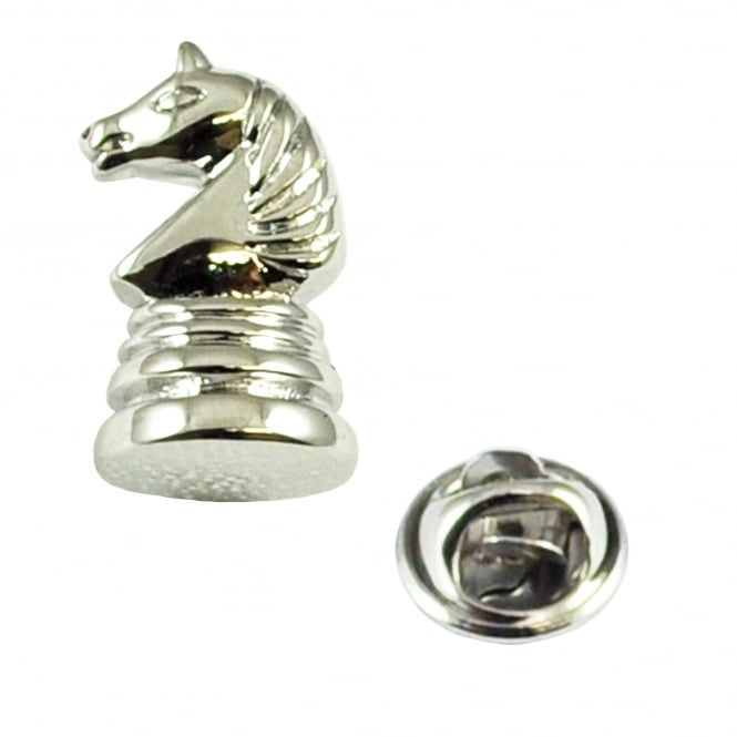 Chess Playing Piece Knight Lapel Pin Badge