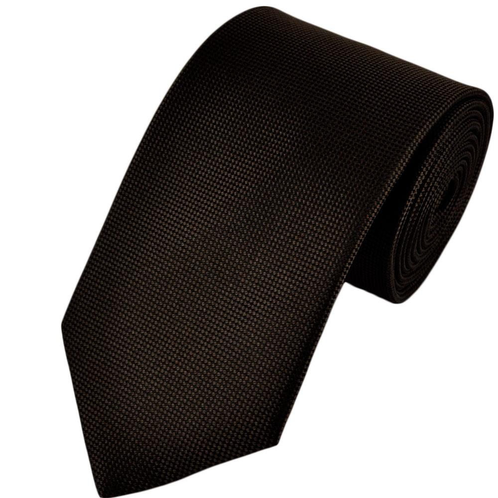 chocolate brown black micro patterned silk tie from ties
