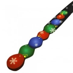 Christmas Tree Baubles & Snowflakes Shaped Novelty Tie