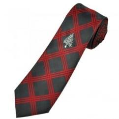Christmas Tree Black & Red Check Men's Novelty Tie