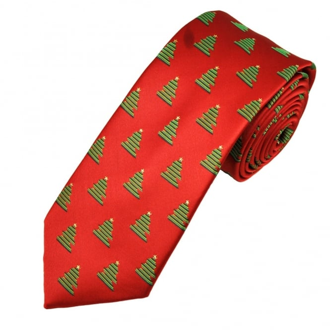 Christmas Tree Red Men's Novelty Tie
