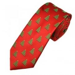 Christmas Tree Red Men's Novelty Tie