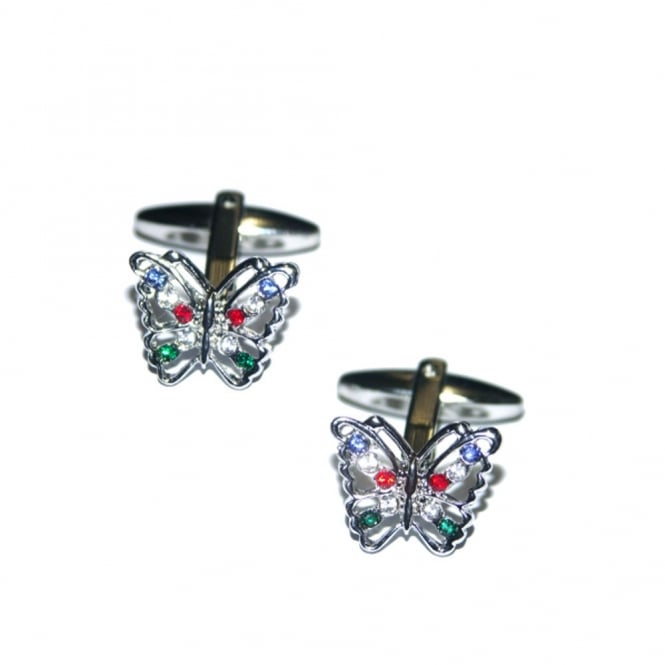 Colourful Butterfly Novelty Cufflinks