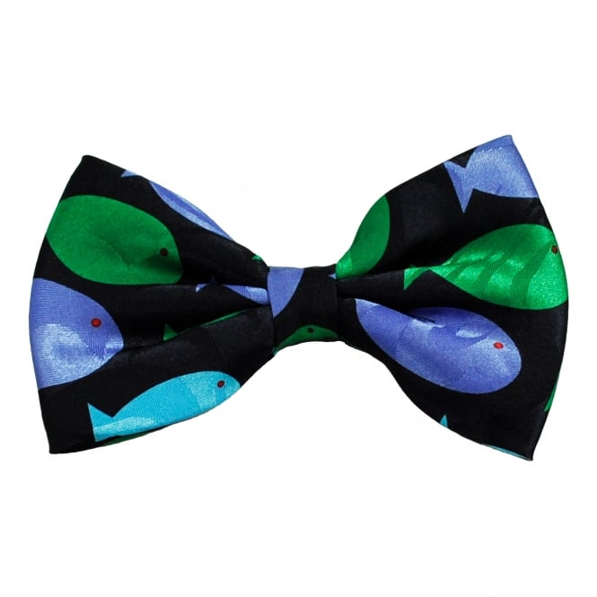Colourful fish novelty bow tie from ties planet uk for Fish bow tie