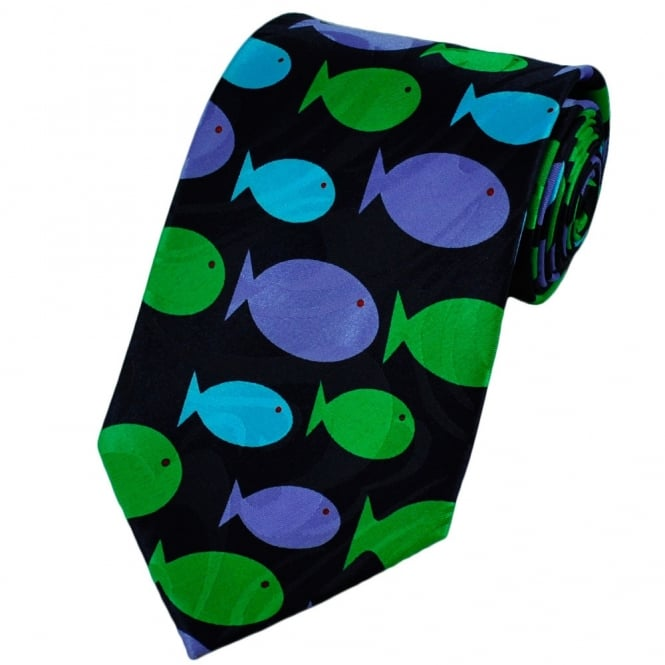 Colourful Fish Novelty Tie