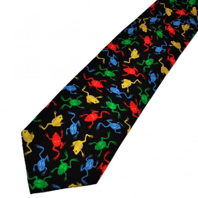 Colourful Frogs Novelty Tie