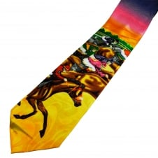 Colourful Horse Racing Novelty Tie