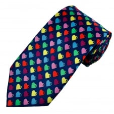 Colourful Love Hearts Novelty Tie