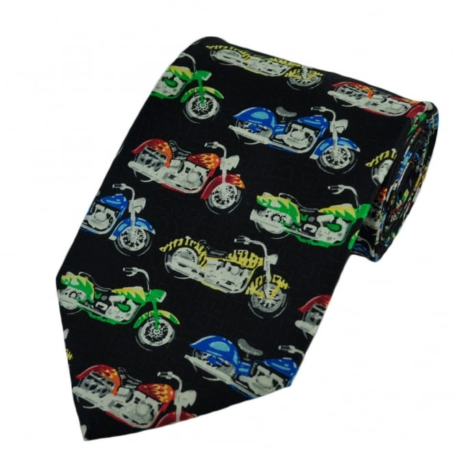 Colourful Motorbikes Silk Novelty Tie