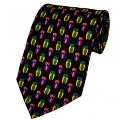 Colourful Owls Novelty Tie