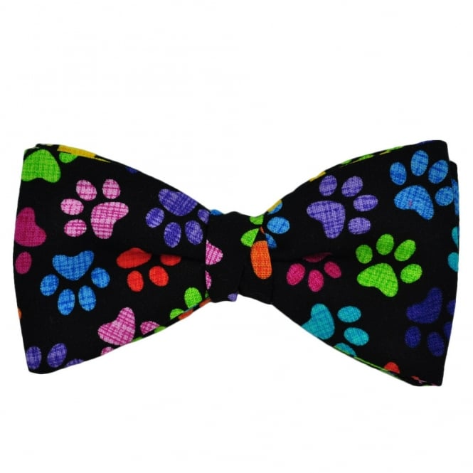 Colourful Paw Print Novelty Bow Tie