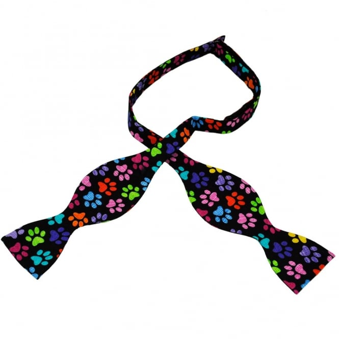 Colourful Paw Print Novelty Self Tie Bow Tie