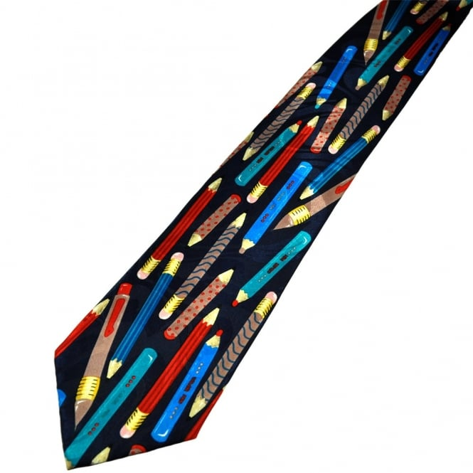 Colourful Pencil Crayons Novelty Tie