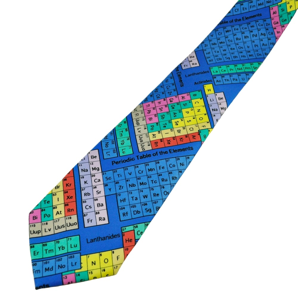 Colourful periodic table science novelty tie from ties planet uk colourful periodic table science novelty tie urtaz Choice Image