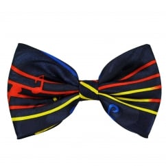Colourful Red, Yellow & Blue Music Notes Bow Tie
