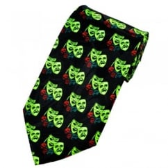 Comedy & Tragedy Carnival, Drama Masks Novelty Tie
