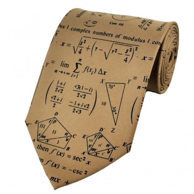Maths equation burgundy Tie