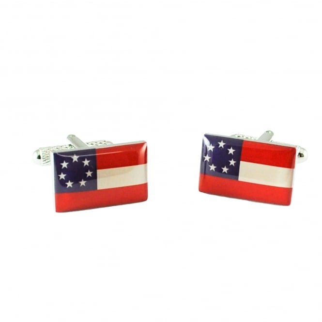 Confederate States Of America Flag Cufflinks