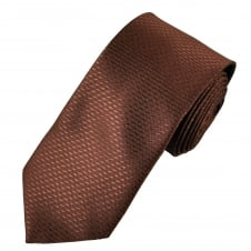 Copper Brown Dogtooth Checked Men's Tie
