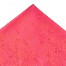 Coral Pink Paisley Patterned Pocket Square Handkerchief