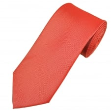 Coral Pink Waffle Patterned Men's Tie