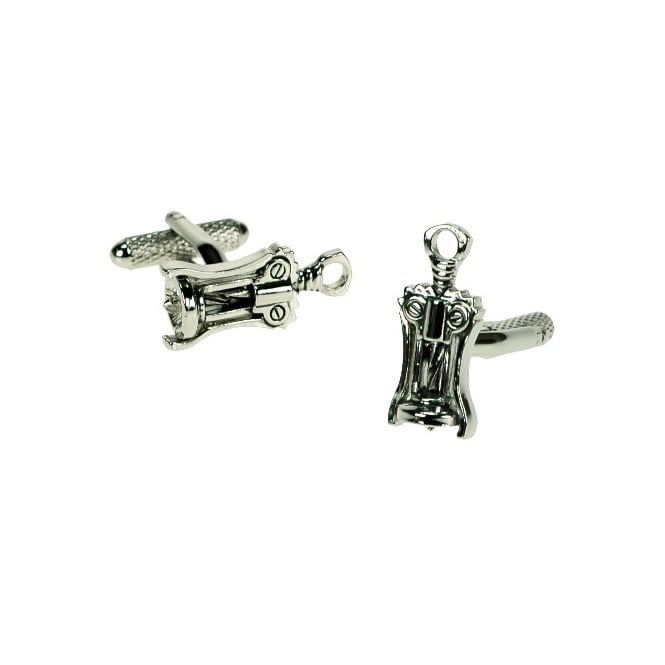 corkscrew/bottle opener novelty cufflinks