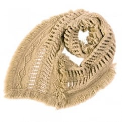 Cream Juju Haze Scarf by Lettuce of London