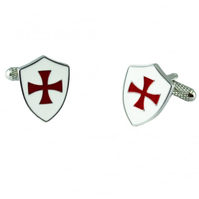Crusader Knights Templar Shield Cufflinks