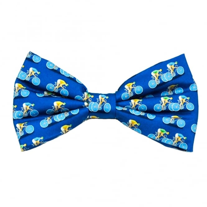 Cycling Blue Novelty Bow Tie