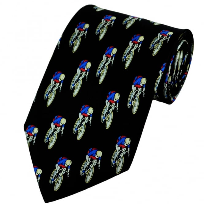 Cycling Silk Novelty Tie
